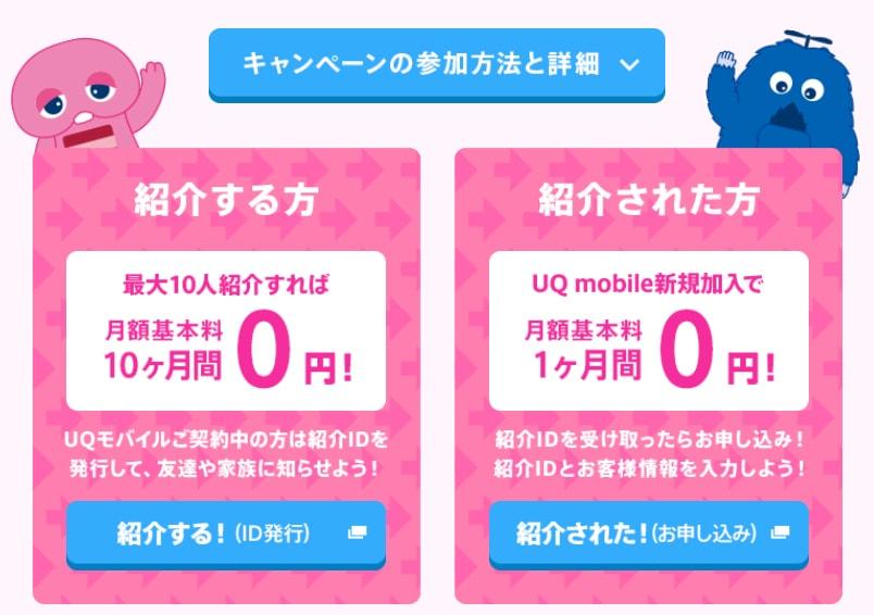UQモバイル紹介キャンペーン