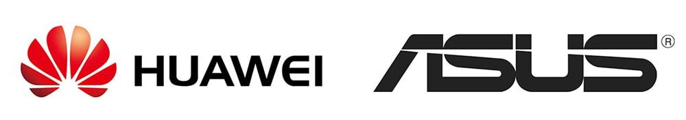HUAWEIとASUSのロゴ画像
