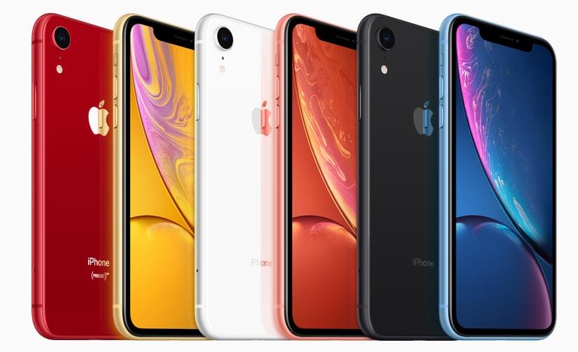 iPhoneXRのカラー画像