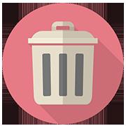 ゴミ箱のイラスト
