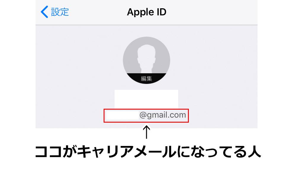AppleID確認画面の画像