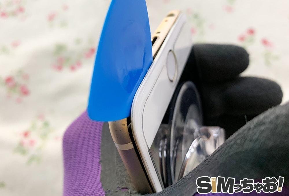 iPhoneのばってりー交換の画像