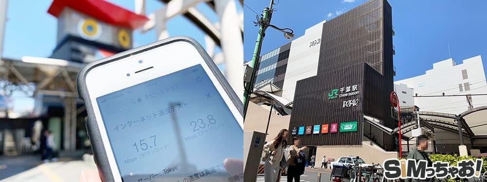 Y!mobile通信速度の画像