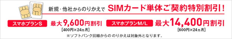 SIM単体特別割引