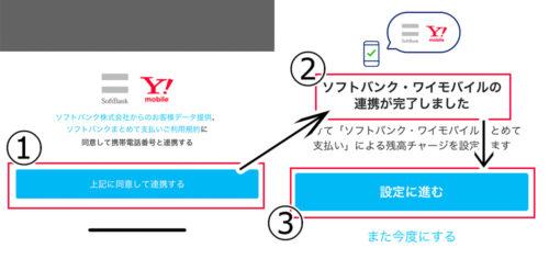 paypayワイモバイルまとめて支払いの設定手順画像