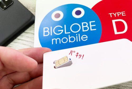 BIGLOBEモバイルのSIMカードの画像